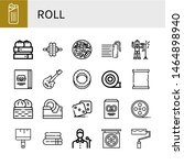 set of roll icons such as...   Shutterstock .eps vector #1464898940
