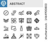 set of abstract icons such as... | Shutterstock .eps vector #1464900803