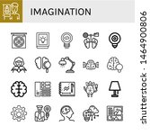 set of imagination icons such... | Shutterstock .eps vector #1464900806