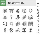 set of brainstorm icons such as ... | Shutterstock .eps vector #1464901619