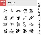 Set Of Wing Icons Such As...