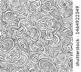decorative hand drawn doodle... | Shutterstock . vector #1464922349