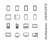set of gadget devices line icon ... | Shutterstock .eps vector #1464925973