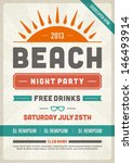 retro summer party design... | Shutterstock .eps vector #146493914