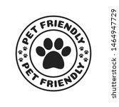 Stock vector pet friendly dog friendly paw print logo branding vector illustration background 1464947729