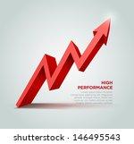 vector 3d arrow graph...   Shutterstock .eps vector #146495543
