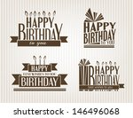 set of birthday icons.... | Shutterstock .eps vector #146496068