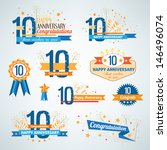 set of anniversary design... | Shutterstock .eps vector #146496074