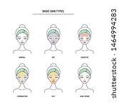 basic skin types chart  normal  ... | Shutterstock .eps vector #1464994283