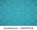 turquoise ottoman pattern | Shutterstock .eps vector #146499518