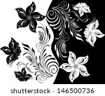 black and white floral pattern. | Shutterstock . vector #146500736