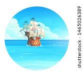vector cartoon background... | Shutterstock .eps vector #1465026389