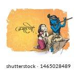 happy janmashtami festival... | Shutterstock .eps vector #1465028489
