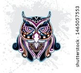 decorative owl from rousing... | Shutterstock .eps vector #1465057553
