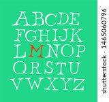 set of letters of the english... | Shutterstock . vector #1465060796