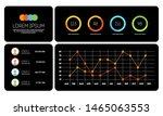 dark ui interface  information...