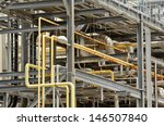 steel and pipe work of a smoke... | Shutterstock . vector #146507840