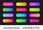 gradient action button. shop...
