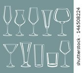 cocktail glass collection | Shutterstock .eps vector #146508224
