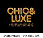 vector chic and luxe font.... | Shutterstock .eps vector #1465082426