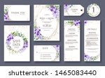 set of wedding invitation card  ... | Shutterstock .eps vector #1465083440