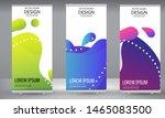 roll up banner blue purple... | Shutterstock .eps vector #1465083500