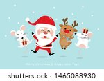 merry christmas greeting card... | Shutterstock .eps vector #1465088930