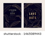 wedding invitation thank you... | Shutterstock .eps vector #1465089443