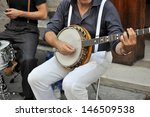 Street Performer With Banjo