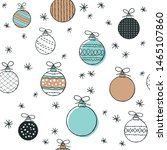 cute seamless pattern with... | Shutterstock .eps vector #1465107860