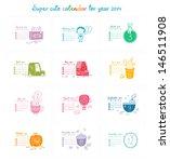 Cute Doodle Calendar For 2014....