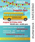 back to school flyer with... | Shutterstock .eps vector #1465130363