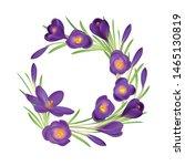 crocuses wreath. crocus.... | Shutterstock .eps vector #1465130819