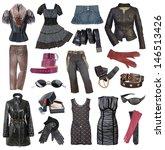 set of fashionable stylish... | Shutterstock . vector #146513426