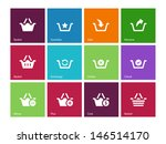 shopping basket icons on color...