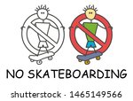 funny vector stick man with a... | Shutterstock .eps vector #1465149566