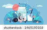 vegan milk vector illustration. ... | Shutterstock .eps vector #1465150103