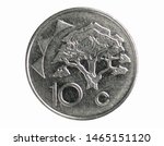 10 Cents coin, 1993~Today - Circulation serie, Bank of Namibia. Obverse, issued on 1993. Isolated on white