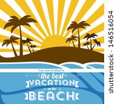 invited vacation on the beach... | Shutterstock .eps vector #146516054