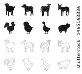 vector design of breeding and... | Shutterstock .eps vector #1465163336
