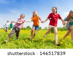 diversity looking kids  boys... | Shutterstock . vector #146517839