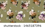 seamless floral pattern with... | Shutterstock . vector #1465187396