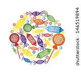sweet round vector illustration   Shutterstock .eps vector #146519894