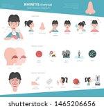 nasal diseases. rhinitis... | Shutterstock .eps vector #1465206656