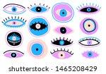 evil seeing eye symbol naive... | Shutterstock .eps vector #1465208429
