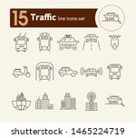traffic line icon set. taxi ...   Shutterstock .eps vector #1465224719