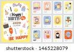 happy birthday wall calendar.... | Shutterstock .eps vector #1465228079