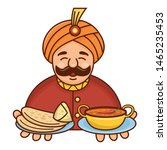 cute cartoon indian chef... | Shutterstock .eps vector #1465235453