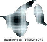 brunei darussalam map dotted...