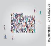 big people group standing... | Shutterstock .eps vector #1465262303